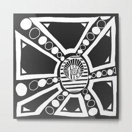 White on Black Box Metal Print