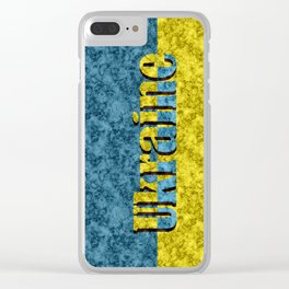 Flag of Ukraine Clear iPhone Case