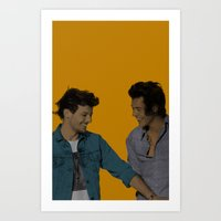 larry stylinson Art Prints featuring Pop Art Larry Stylinson 2 by JodiYoung
