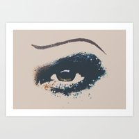hedwig Art Prints featuring Hedwig Eye by byebyesally