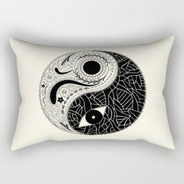 Yin & Yang - [collaborative art with Magdalla del Fresto] Rectangular Pillow