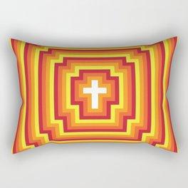 Technicolour Cross - Orange Rectangular Pillow