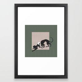 Panther Woman Framed Art Print