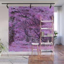 Fantasy Tree Landscape: Orchid Pink Purple Wall Mural