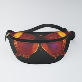 Butterfly - Vibrant Glow - Orange Brown Yellow Black Fanny Pack