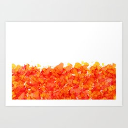 Set the World on Fire - Abstract Red, Orange, Yellow Ink Art Print