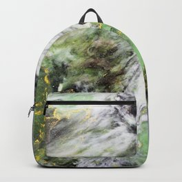 Emerald Green Marble with Gold Backpack