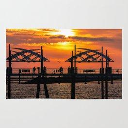 California Dreaming - Redondo Beach Pier Rug