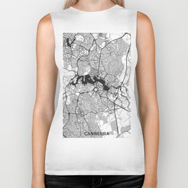 Canberra Map Gray Biker Tank