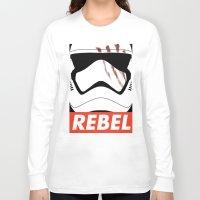 rebel Long Sleeve T-shirts featuring REBEL by Bertoni Lee