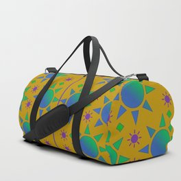 Turquoise Sun, Design Pattern Duffle Bag