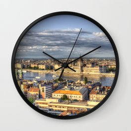 Budapest City View Wall Clock