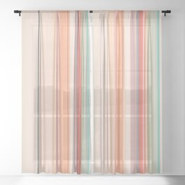 Stripe Pattern XI Sheer Curtain