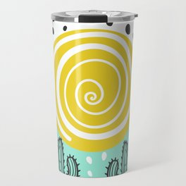 cactus sunset Travel Mug