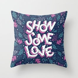 Show Some Love - Navy Throw Pillow