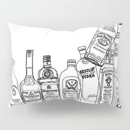 Alcohol Bottles (White) Pillow Sham