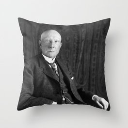 John D. Rockefeller Portrait Throw Pillow