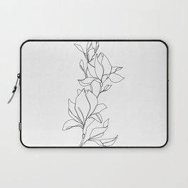 Botanical illustration line drawing - Magnolia Laptop Sleeve