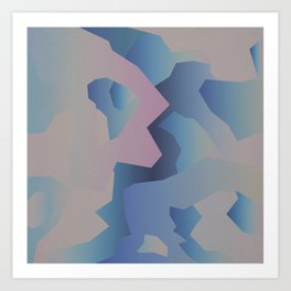 Abstract gradient 3 Art Print
