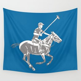 Polo pony and rider Wall Tapestry