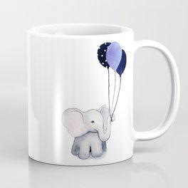 Elephant with Balloons Coffee Mug