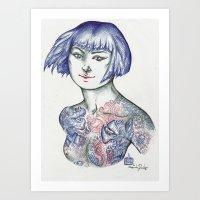 Yakuza Nipples Art Print