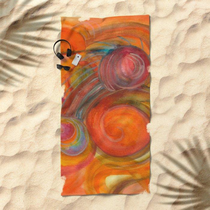 Sounds of Watercolors I Beach Towel