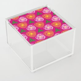 Bright pink floral Acrylic Box