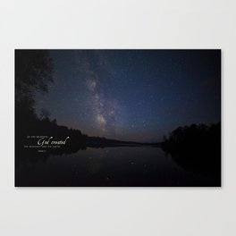 Milky Way over the Lake Canvas Print