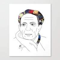 pablo picasso Canvas Prints featuring Pablo Picasso by Grace Ban