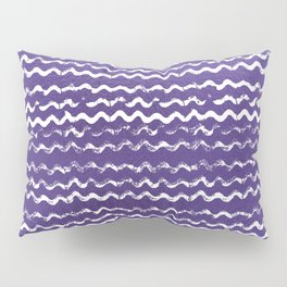 Abstract violet white watercolor geometrical chevron zigzag Pillow Sham