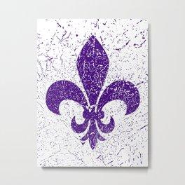 Heraldic lily purple Metal Print