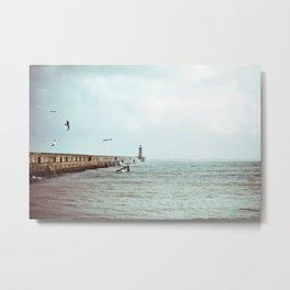 Sunny Pier Metal Print