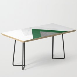 Marble Green Concrete Arrows Collage Coffee Table