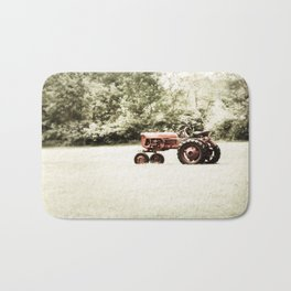Vintage Red Tractor Bath Mat