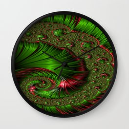 Christmas Twist Fractal Wall Clock