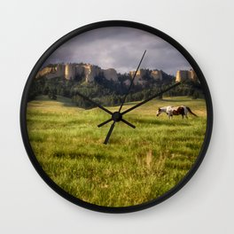 Horse in the Hills Wall Clock