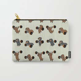 Olympic Lifting Dachshund Carry-All Pouch