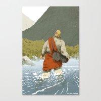 kieren walker Canvas Prints featuring Walker by Joe Lillington