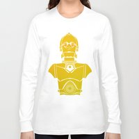 c3po Long Sleeve T-shirts featuring StarWars C3PO by Joshua A. Biron