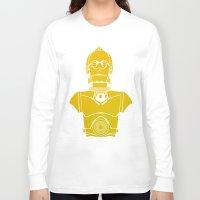 starwars Long Sleeve T-shirts featuring StarWars C3PO by Joshua A. Biron