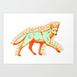 Psychadelic Coyote Art Print