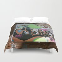graffiti Duvet Covers featuring graffiti by gasponce