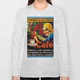 Vintage Brazil Coffee Ad Long Sleeve T-shirt
