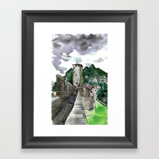 castelgrande within Framed Art Print