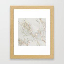 Marble Love Bronze Metallic Framed Art Print