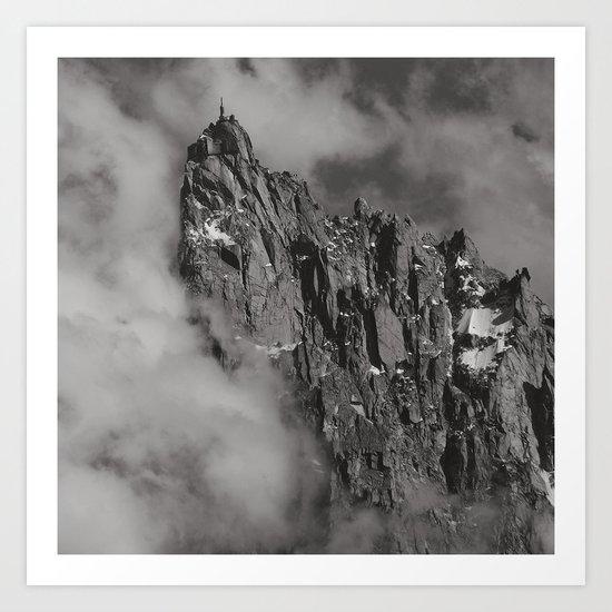 House in the sky Art Print