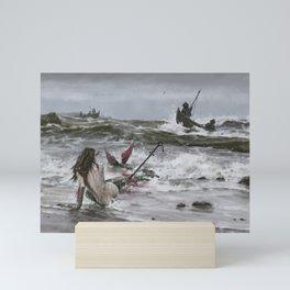 The last mermaid of the northern seas Mini Art Print