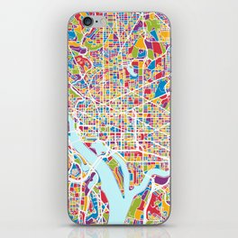 Washington DC Street Map iPhone Skin