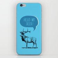 pun iPhone & iPod Skins featuring Deer Pun by Zeke Tucker